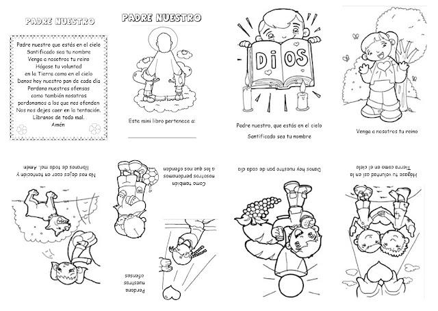 Niño Leyendo Un Libro Colouring Pages Page 2: Clasedereli: Minilibro: El Padrenuestro