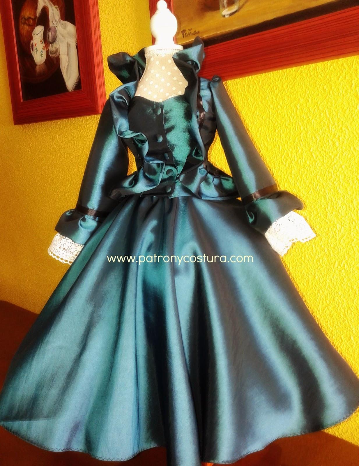 Perfecto Patrones De Costura Vestido De época Motivo - Manta de ...
