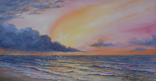 Early Light, sunrise seascape, inspirational art