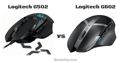 logitech g502 vs g602