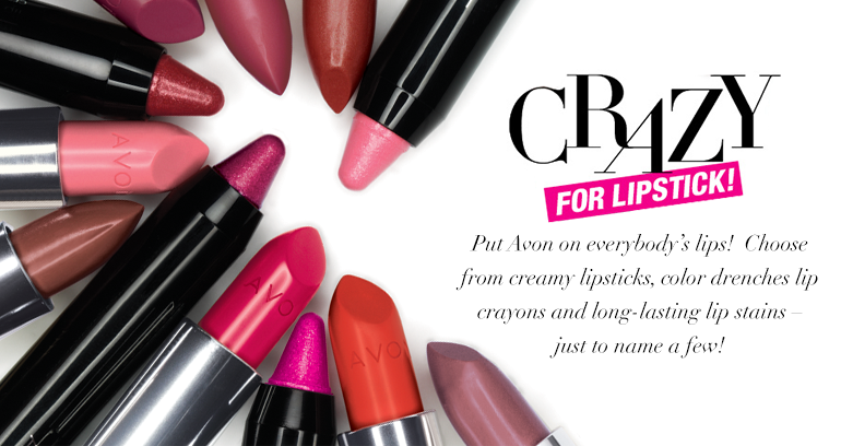 I'm Crazy For Lipstick. Are you? Check out Avon Lipsticks