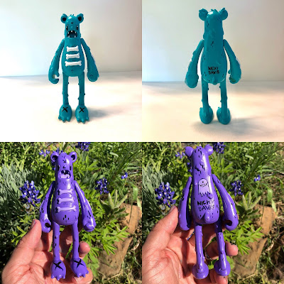 One of a Kind Custom Dead Bear Vinyl Figures by Nicky Davis