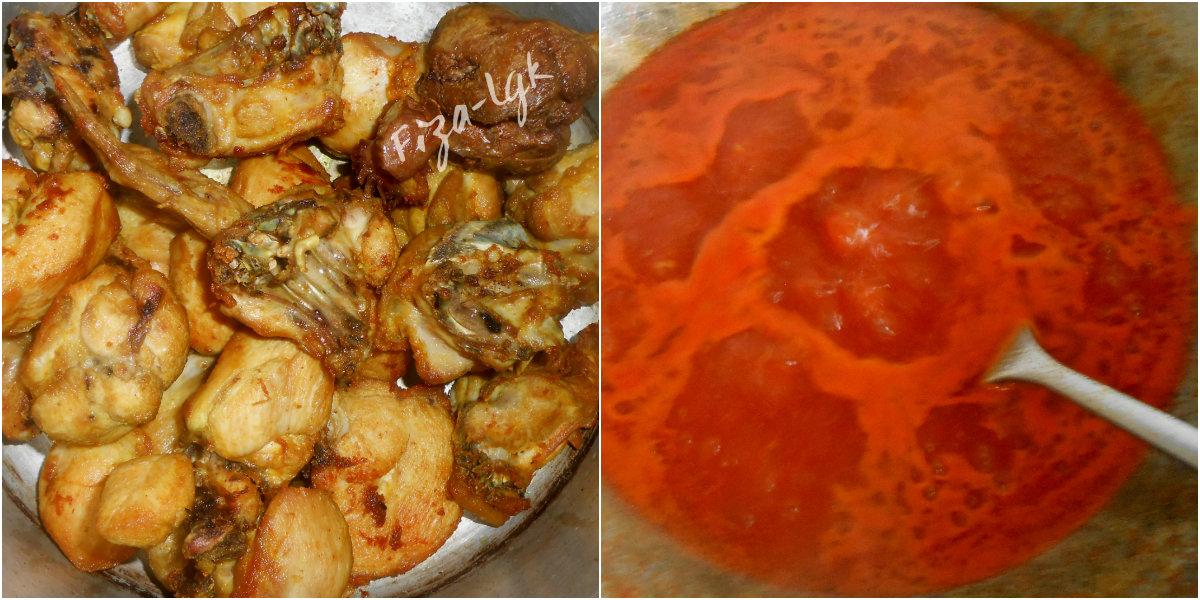 Masukkan Sos Tomato Tiram Dan Gula Melaka Renihkan Hingga Kuah Benar Masak