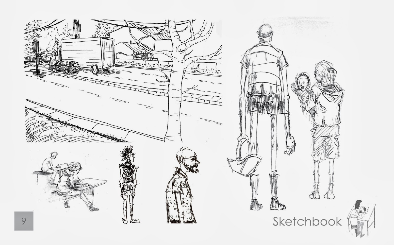The Sketch Blog of Ryan Eways: Portfolio Review