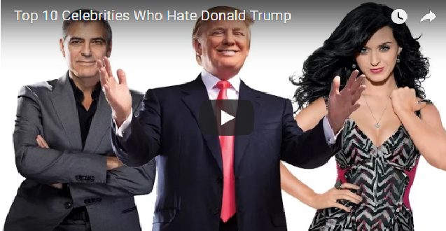 Top 10 Celebrities Who Hate Donald Trump