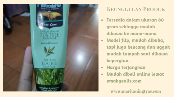 keunggulan herborist facial foam tea tree anti acne