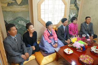 Traditional Korean wedding ceremony at wedding hall - korean family