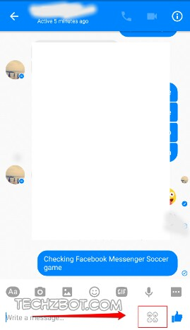 Open a chat window and click on the Smiley Set icon at the bottom right corner of the messenger screen.