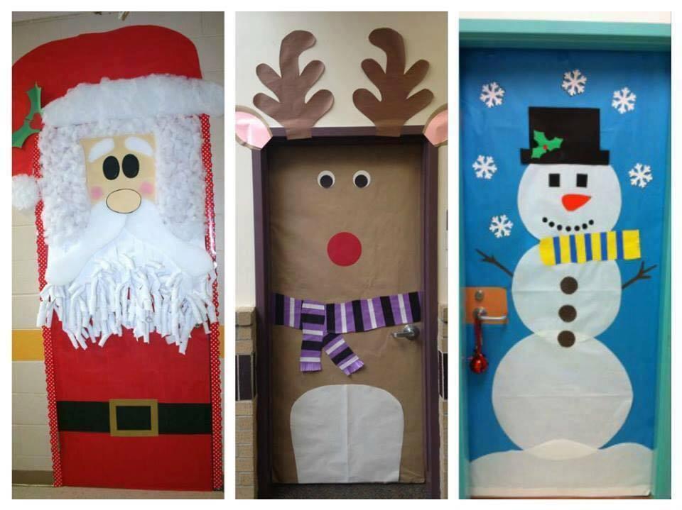 Cositasconmesh for Decorar puertas navidad infantil