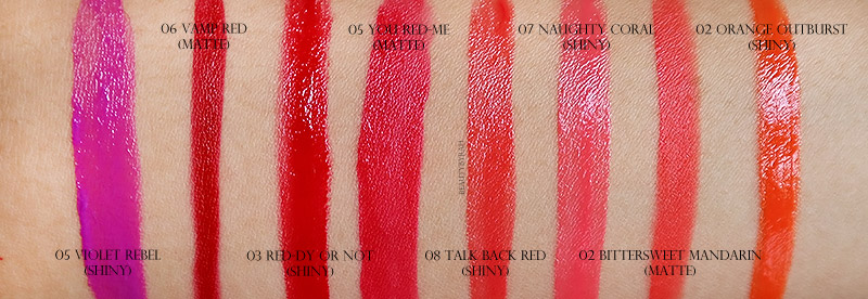 Maybelline Colour Jolt Intense Lip Paint Swatches Singapore
