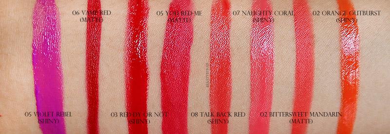 Maybelline Colour Jolt Intense Lip Paint Swatches Singapore