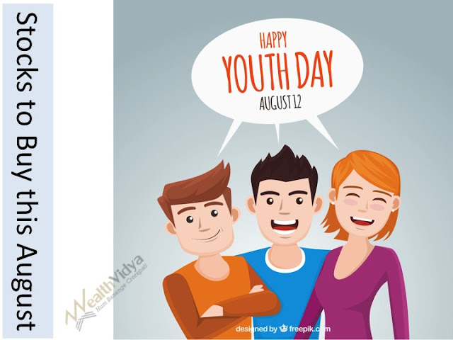 Three Bright Youngsters Celebrating Youth Day and Eager to Know What Stocks to Buy in August