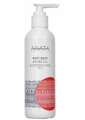 Arata Zero Chemicals - Natural Body Wash With Apricot, Coconut and Honeysuckle