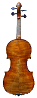 Violin backplate made in copy of Guadagnini by Nicolas Bonet - Violon en copie de Guadagnini