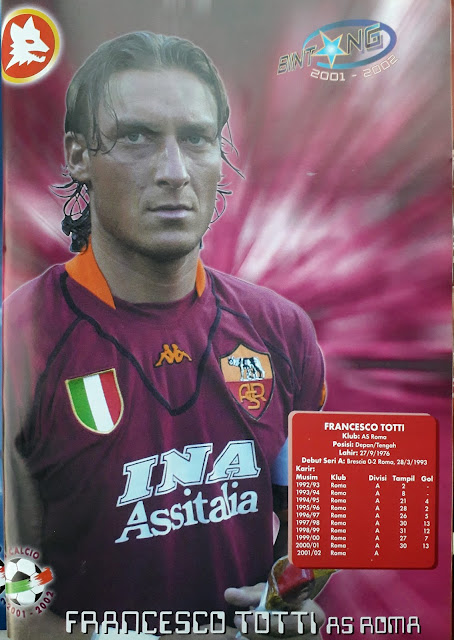 BINTANG 2001-2002 FRANCESCO TOTTI (AS ROMA)
