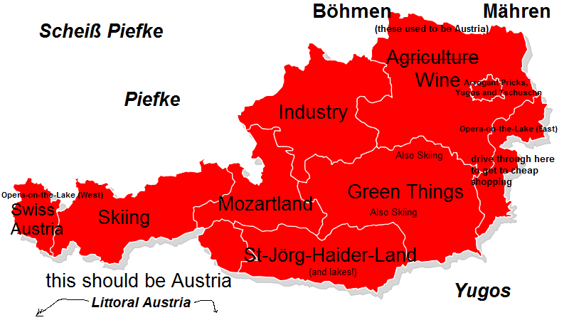 Austria stereotype map
