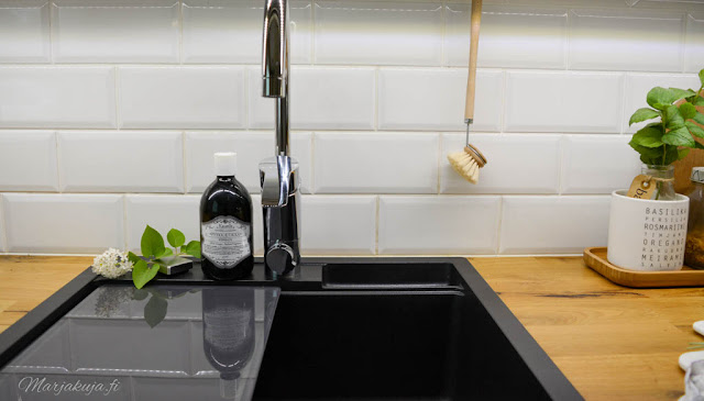 keittiö mora stala Combo CEG51-57B musta komposiittiallas, tasoon upotettava