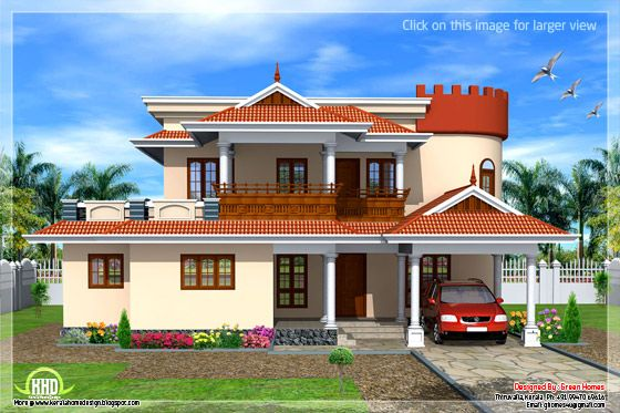 Kerala sloping roof house