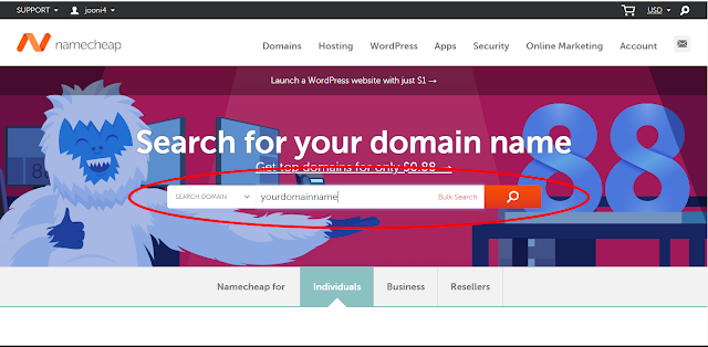 How to buy cheap .com domain for just $0.88