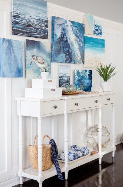Blue Ocean Beach Gallery Wall Paintings
