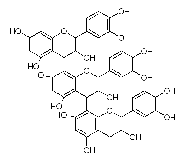 Struktur proanthocyanidin (golongan tannin)