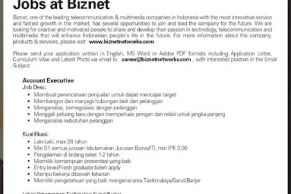 Lowongan Kerja Biznet Tasikmalaya, Garut, Banjar