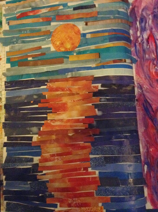 Art Journal - Paper Mosaic Sunset