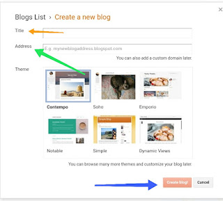 Create a new website for blogger
