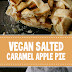 Vegan Salted Caramel Apple Pie #vegan #applepie