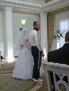 Heiraten im Jogging Anzug - Eheschließung lustig