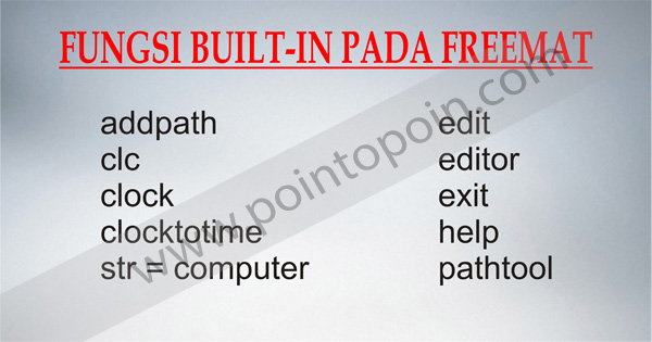 Fungsi Built-in Pada FreeMat