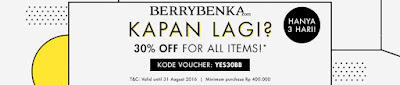 Diskon 30% Semua Produk di Berrybenka.com