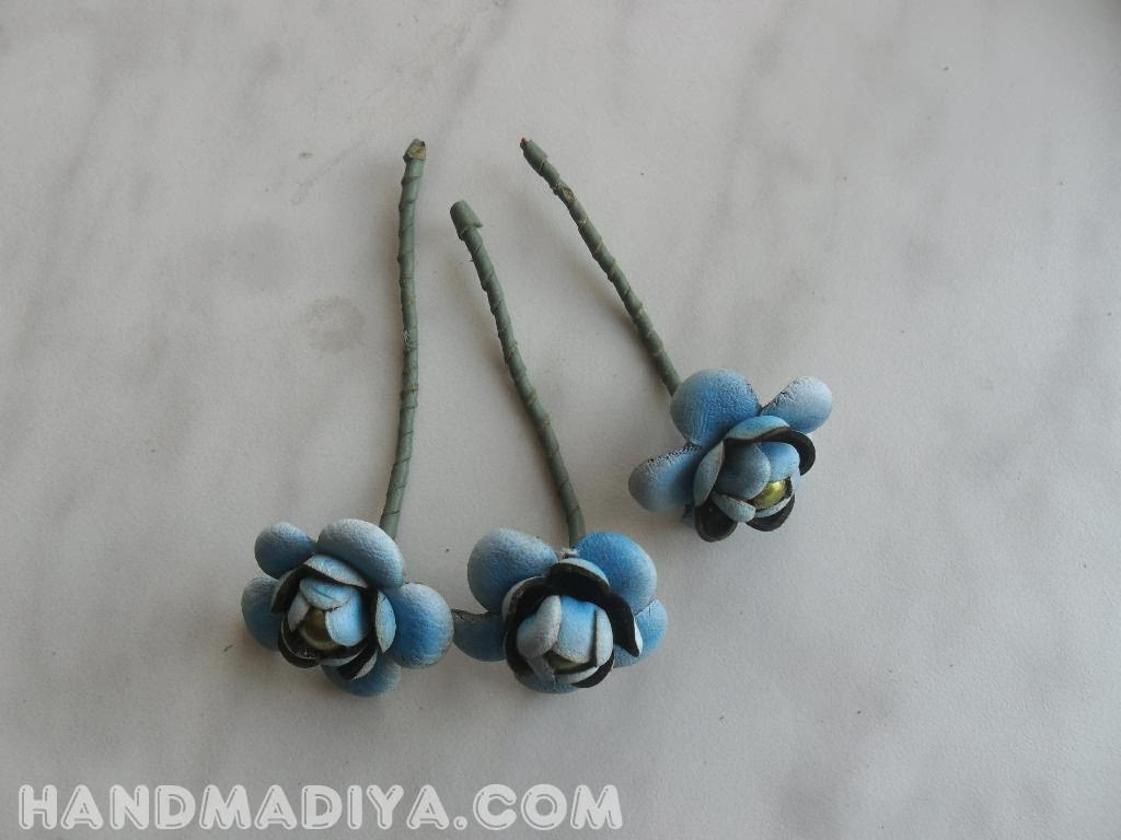 Boutonniere flowers leather DIY step-by-step tutorials