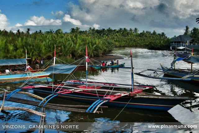 boats at Vinzons Camarines Norte