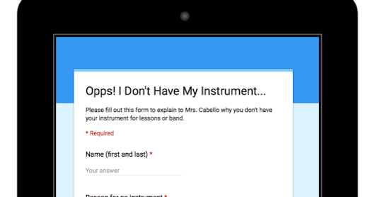 Oops! I Don't Have My Instrument! QR Codes + Google Forms