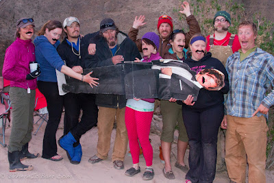 Mustache March in full force, Grand Canyon of the Colorado, Chris Baer