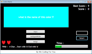 Colors Name Game Source Code
