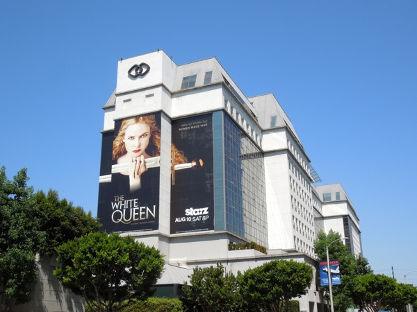 giant White Queen billboard