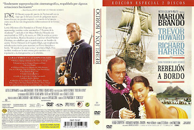 Carátula dvd: Rebelión a bordo (1962) Mutiny on the Bounty