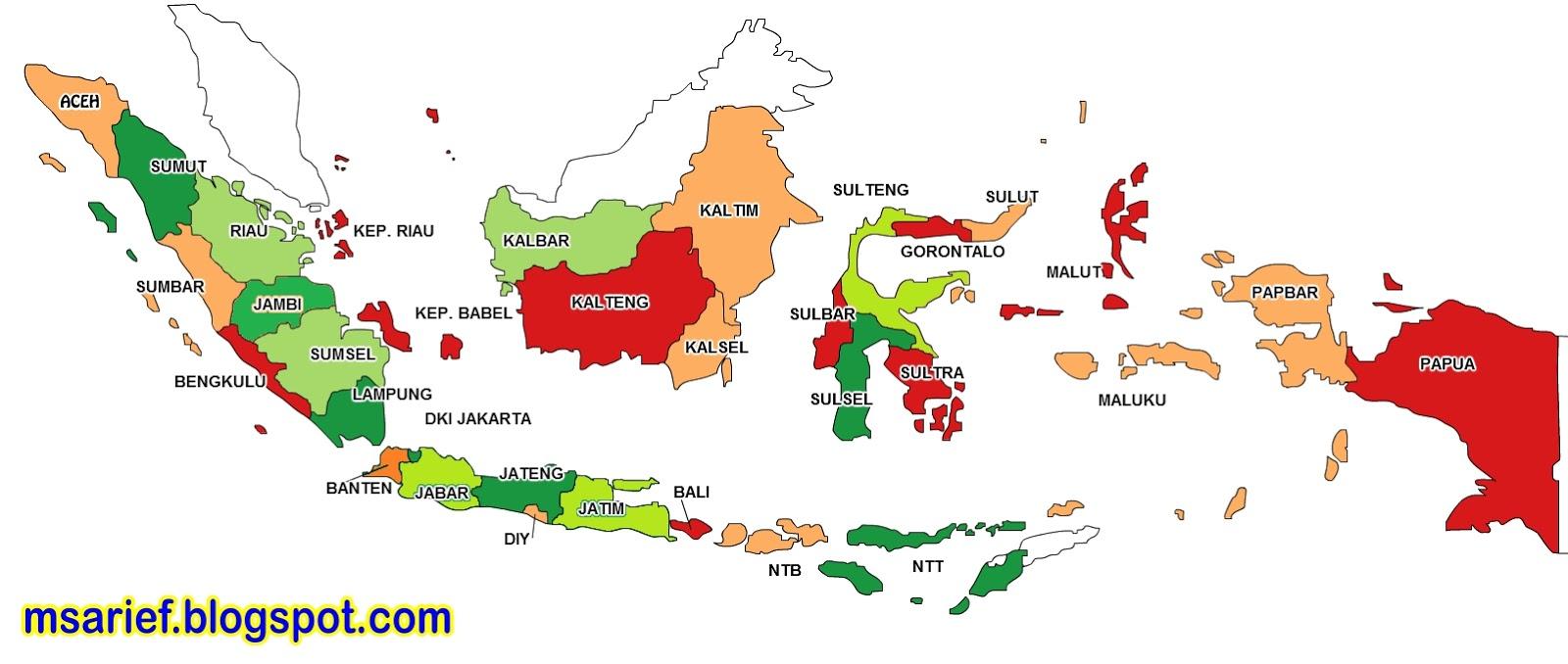 Daftar Nama 34 Provinsi Di Indonesia Lengkap Beserta ...