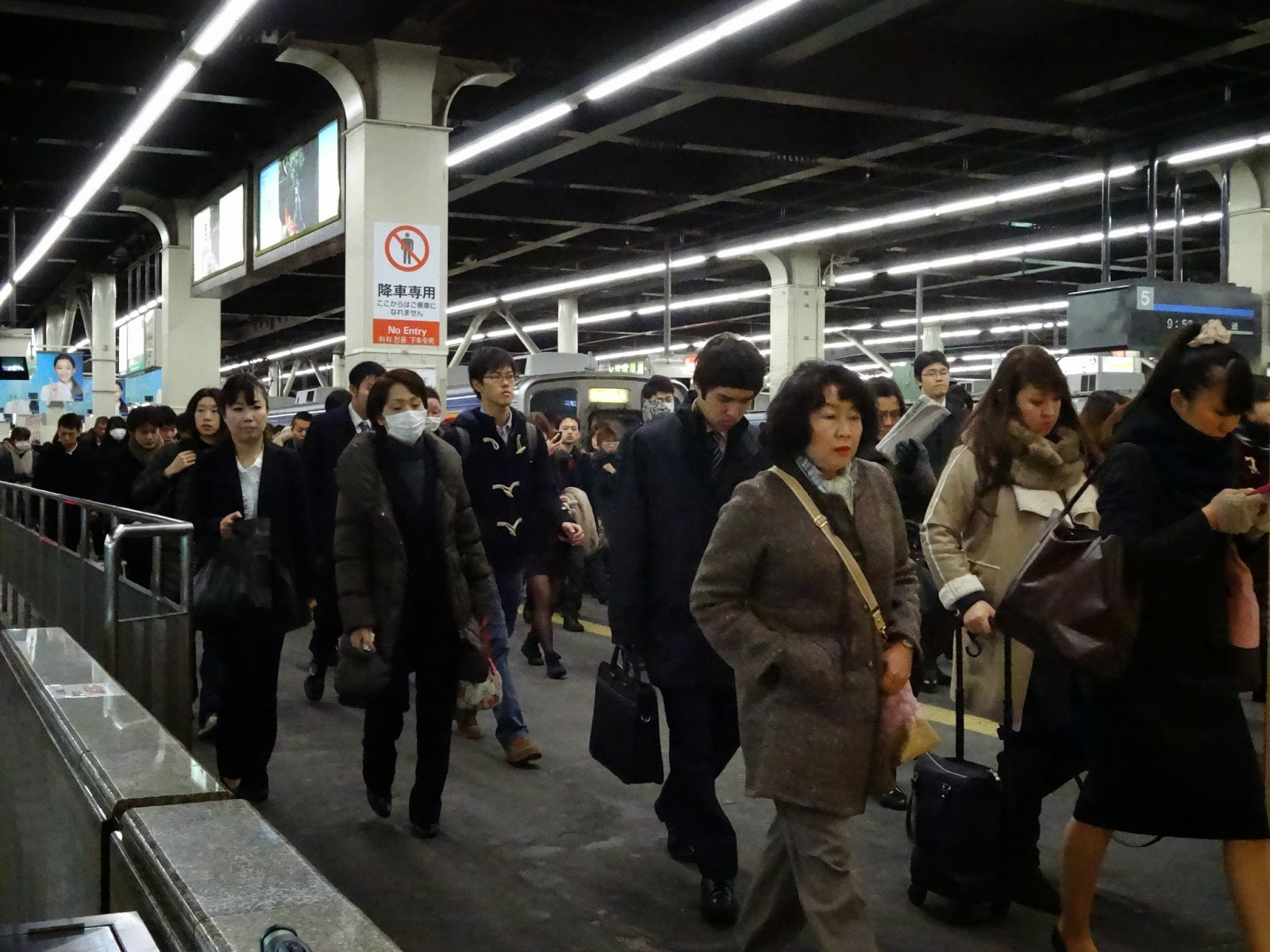 Busy Namba station, Osaka