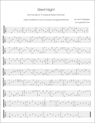 Silent Night Classical Guitar Christmas Tabs