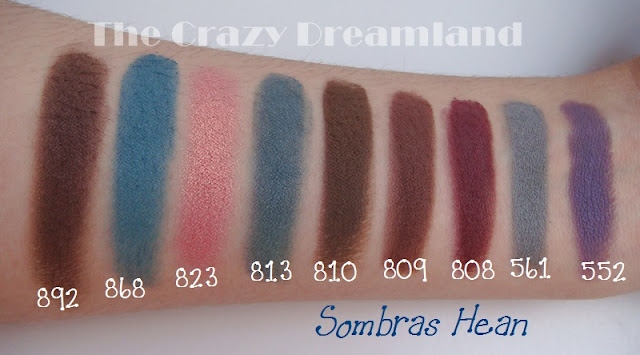 swatches sombras hean