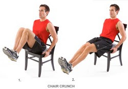 CHAIR CRUNCHES