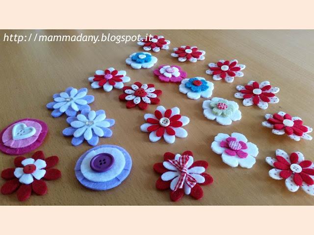 fiori di cambio in feltro per cerchietti per capelli