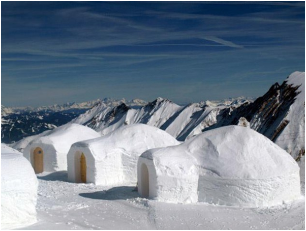 rumah igloo suku eskimo