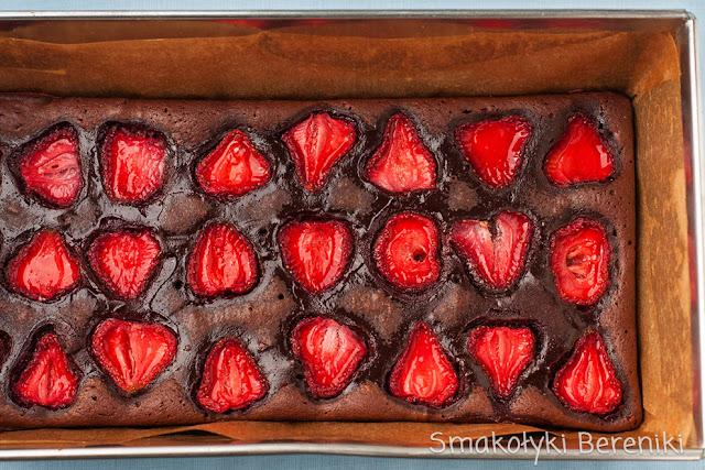 Brownies z truskawkami
