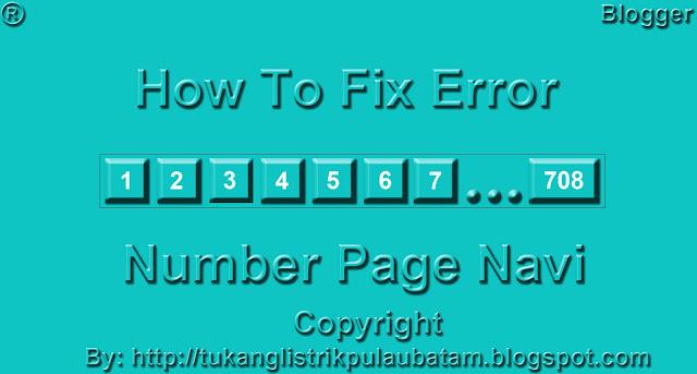 Cara Memperbaiki Navigasi Situs (Number Page Navi)