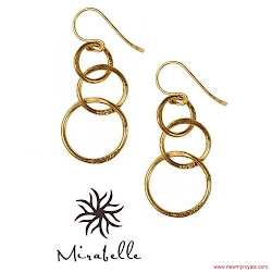 Kate Middleton Style Mirabelle jewellery Lolita Gold Plated Loop Earrings