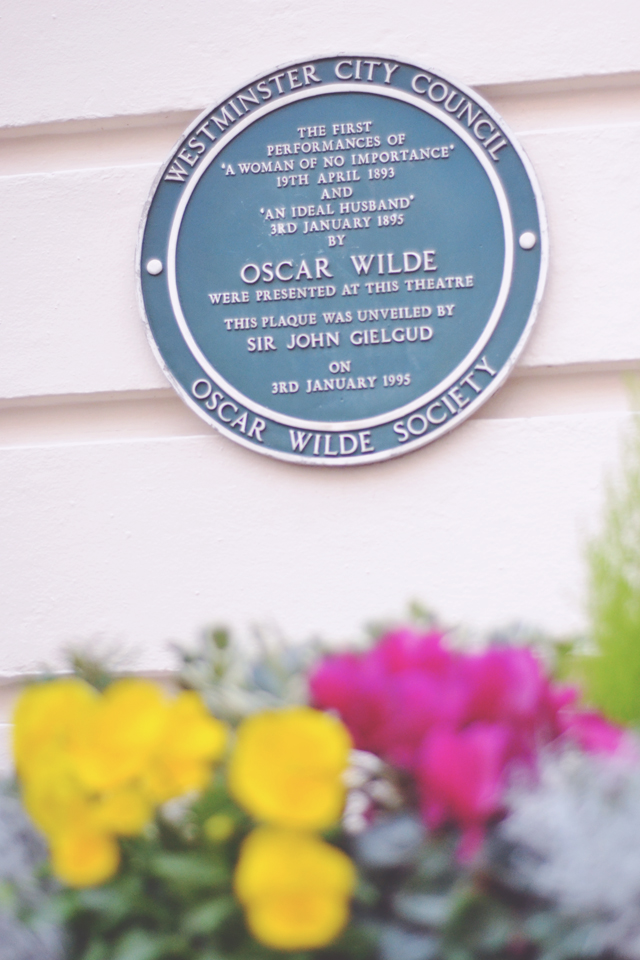 Haymarket Theatre Oscar Wilde Blue Plaque